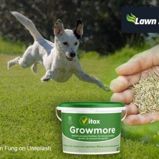 hardwearing grass seed suitable for dogs and children and 10KG fertiliser - Vitax